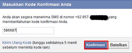 Masukan Kode SMS