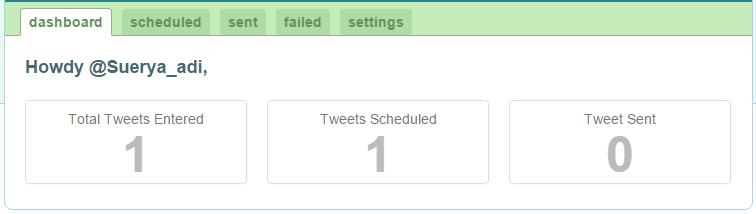 Tweet sudah terschedule