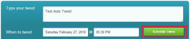 Tweet yang akan di schedule