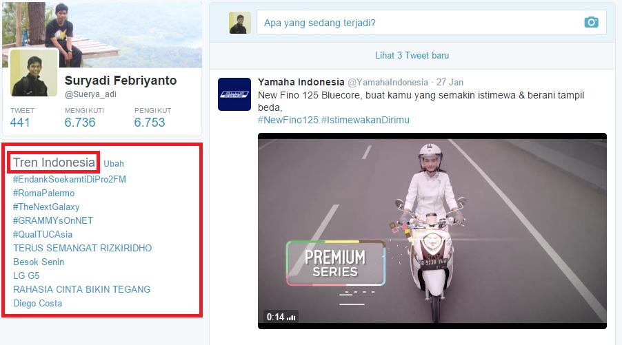 Kumpulan Trending topic yang ada di Indonesia