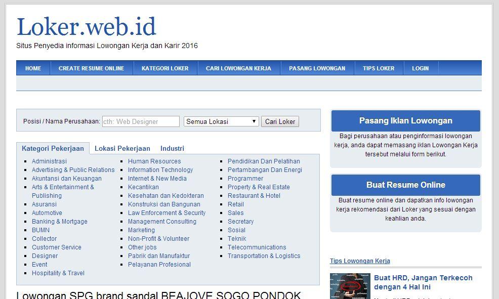 Situs Loker.Web.ID