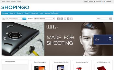Shopingo - Template Blog Toko Online