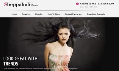 Shoppaholic Boutique Blogger Tempate