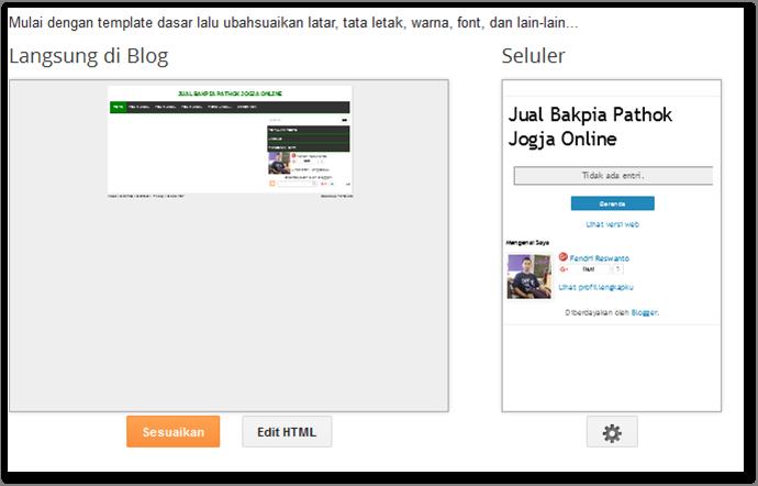 Template Blogger Sudah Diganti