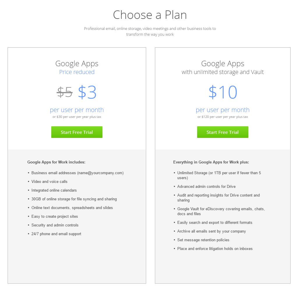 Layanan Google Drive Premium