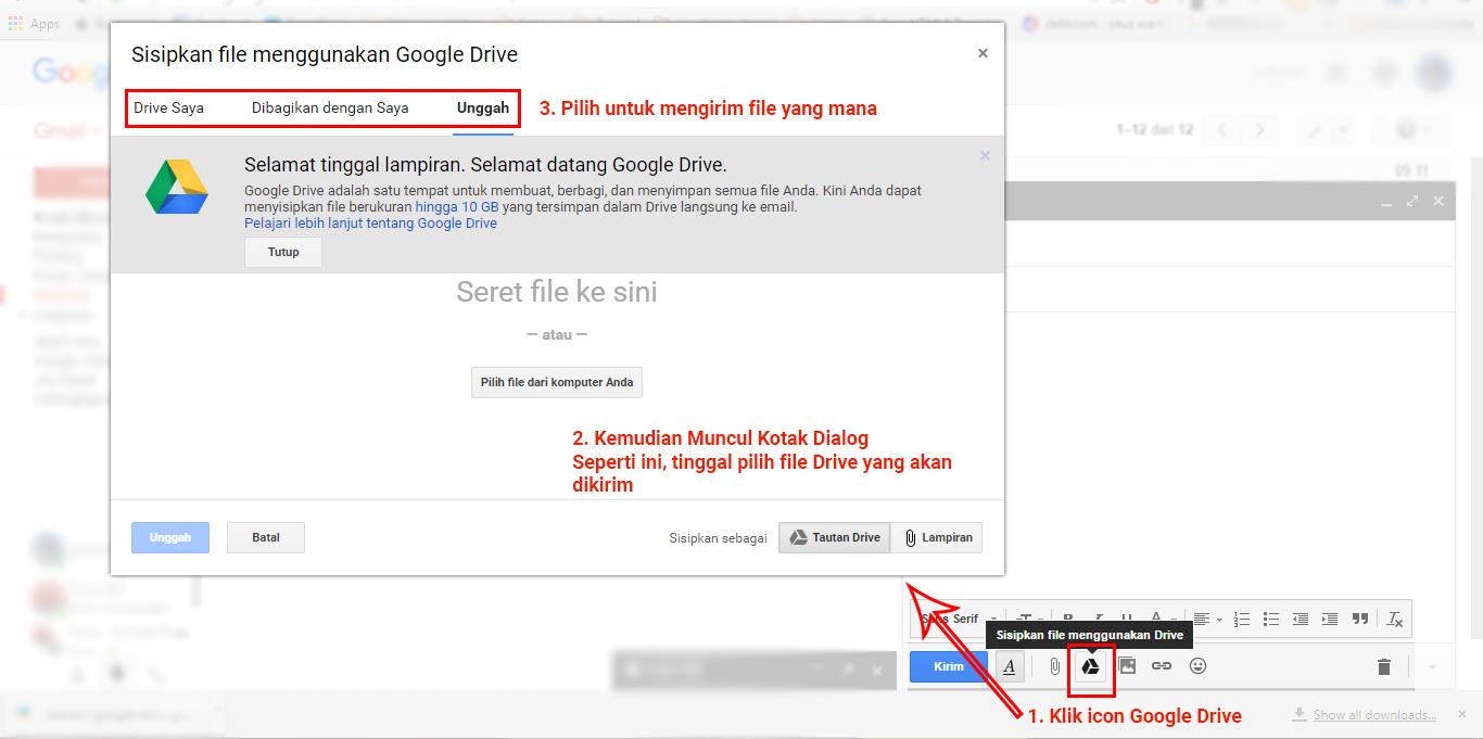 Mengirim File Google Drive via Email