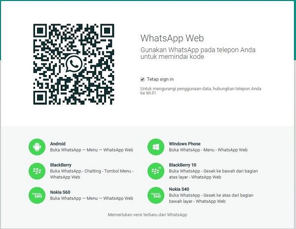 Whatsapp Versi Web (Desktop)