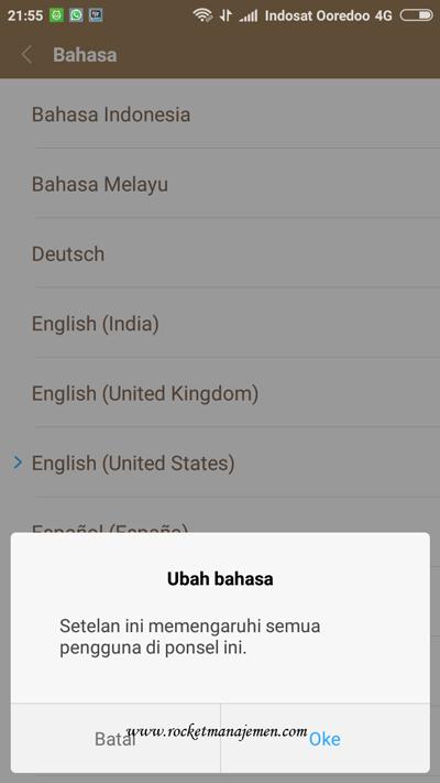 Ubah bahasa telpun