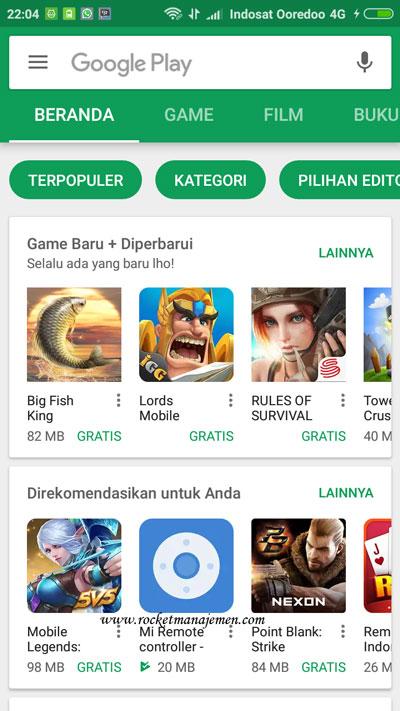 update whatsapp lewat playstore