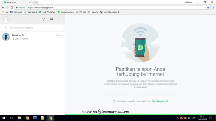 Mengatasi masalah whatsapp web
