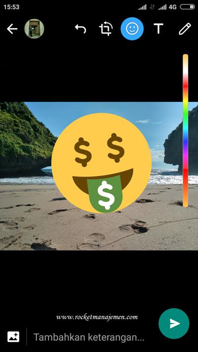 Cara Edit Foto, Video di Whatsapp Android (Tambah Teks ...
