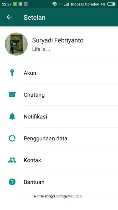 pengaturan notifikasi ada whatsapp