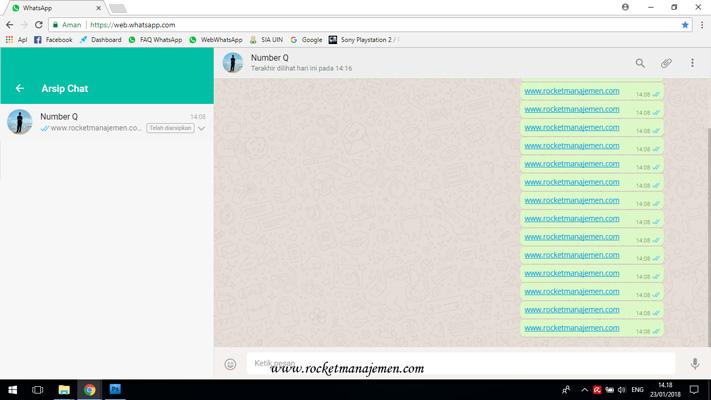 mengembalikan arsip chat