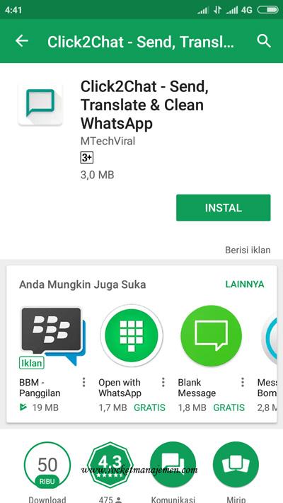 kirm pesan whatsapp tanpa simpan nomor
