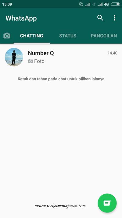 Tampilan percakapan Whatsapp