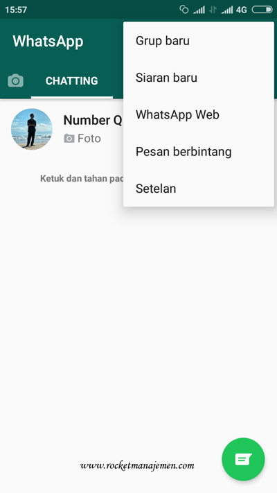menu whatsapp