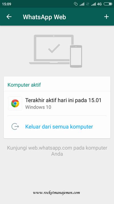 logout whatsapp web lewat hp
