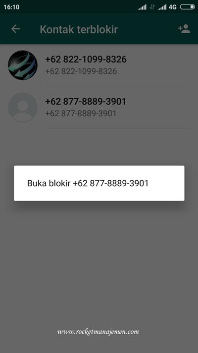 membuka nomor yang diblokir di whatsapp
