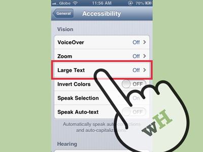 Mengubah ukuran font whatsapp di ios 7