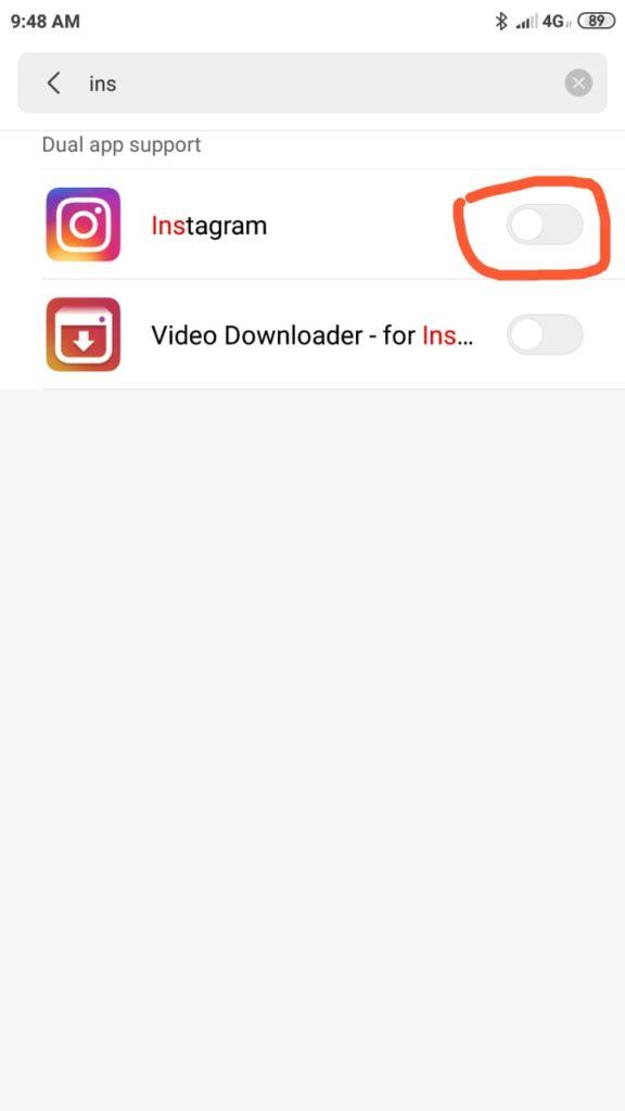 Install 2 IG di Xiaomi