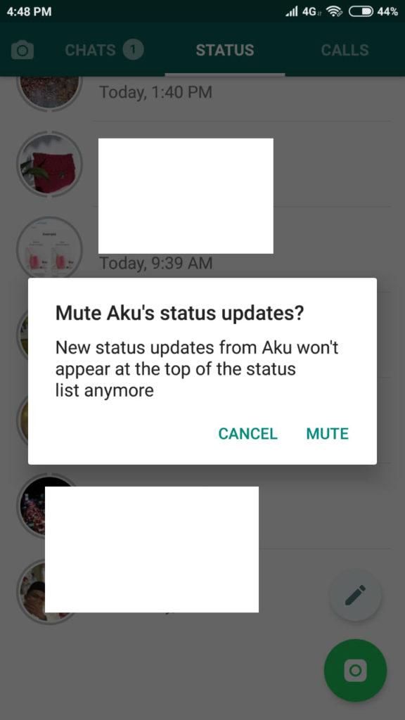 Mute Status WA Teman yang Menyebalkan