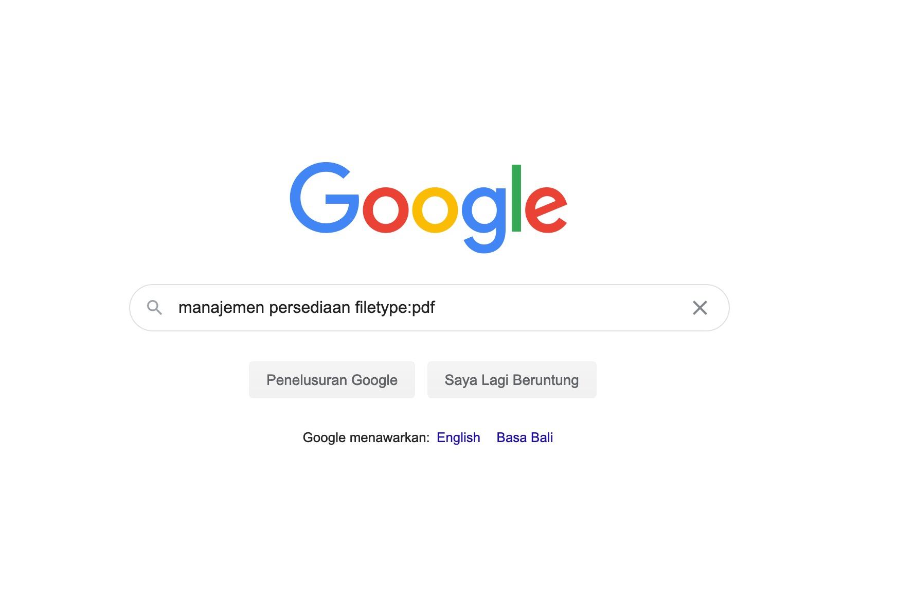 cara searching makalah manajemen persediaan