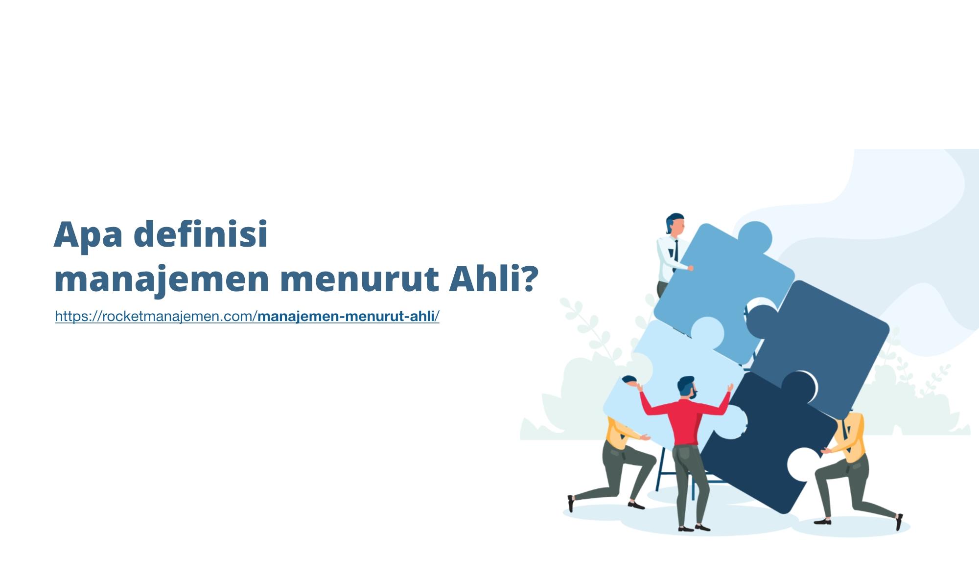 definisi manajemen menurut ahli indonesia luar
